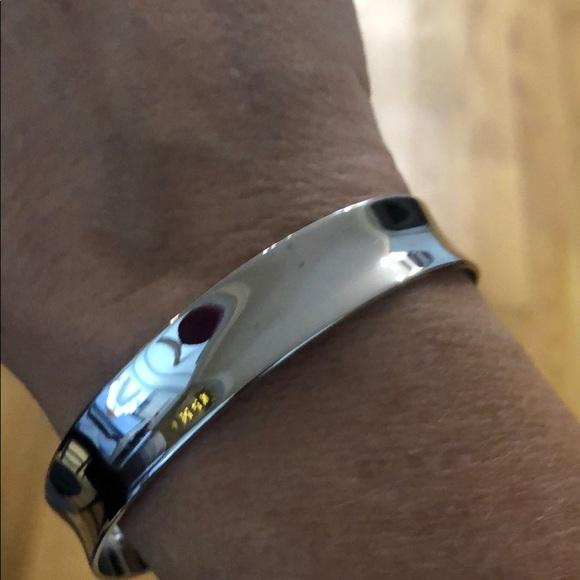 NIB Lia Sophia Silver Cuff Bracelet